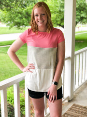 Candy Pink Textured Top - Simply Lynn's Boutique