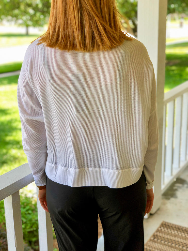 Summer White Pullover - Simply Lynn's Boutique