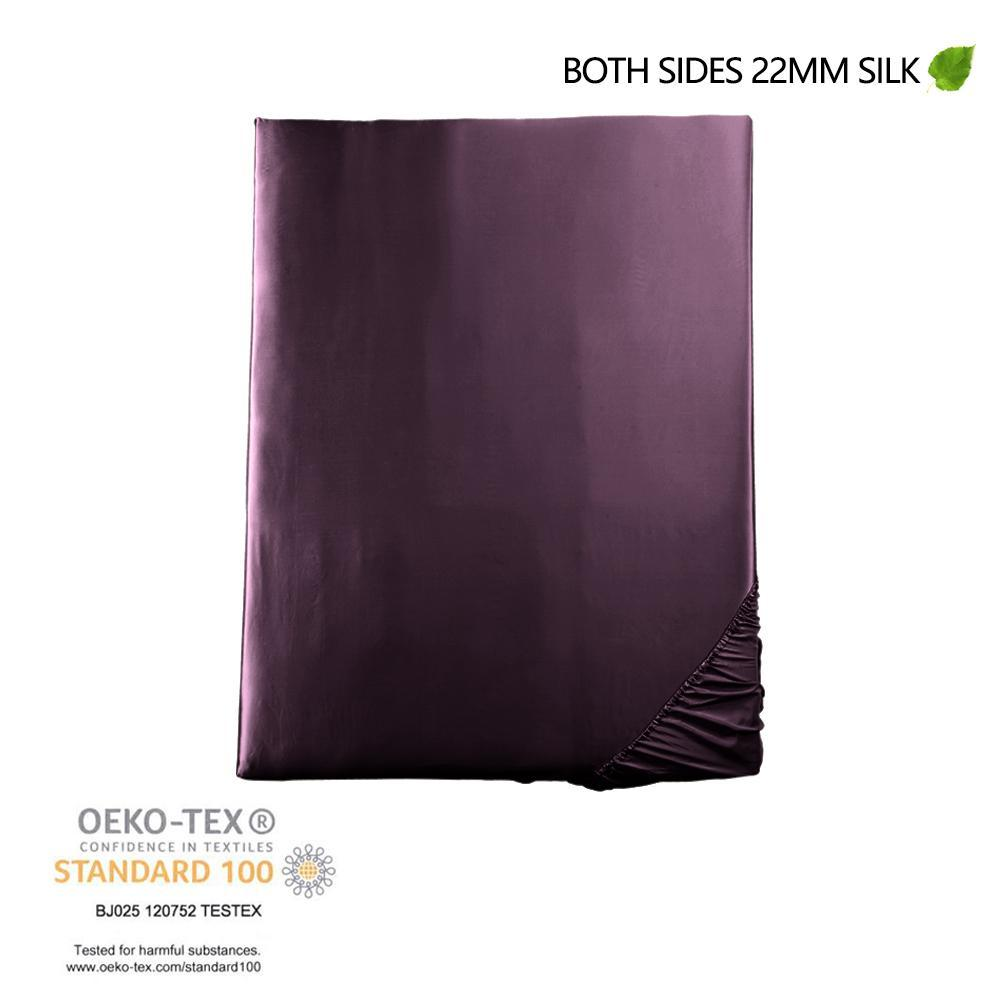 Luxury 22 Momme Silk Bedding Set Sheet Set (4 pcs) | Deep Magenta