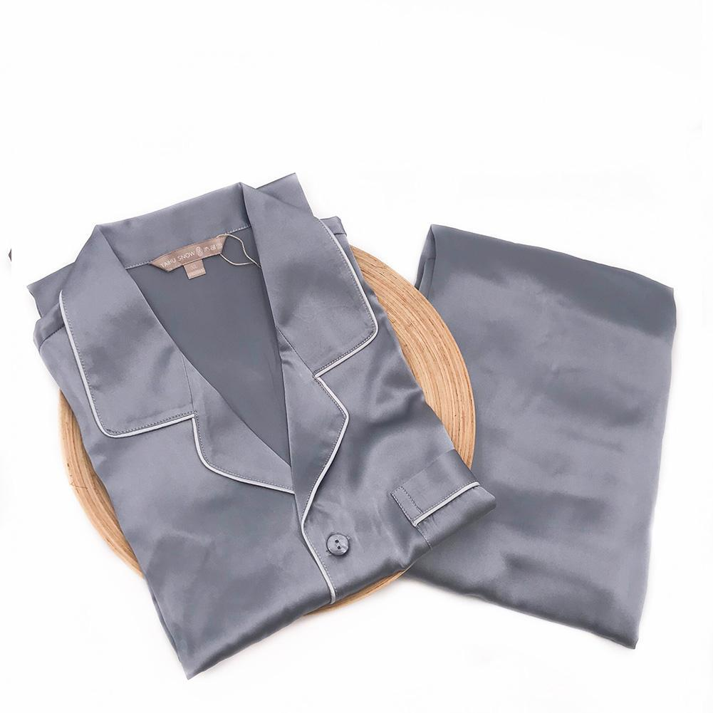 Luxury 22 Momme V Neck Silk Pajamas Set | Men| TAIHU SNOW