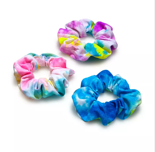2020 New Arrival Tie Dye Silk Hair Band Elastic silk wraps High Quality Elegant 100%Mulberry
