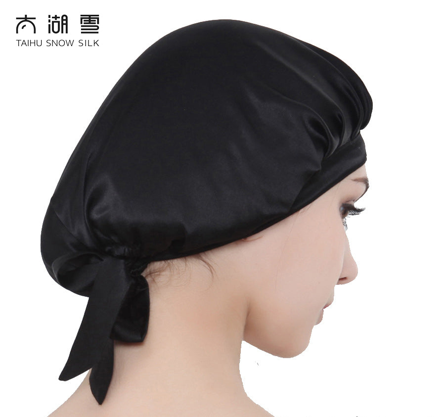 Pure Silk Beauty Silk Products Sleep Night Cap preventing hair from getting messy OEKO-Tex100/TAIHU SNOW