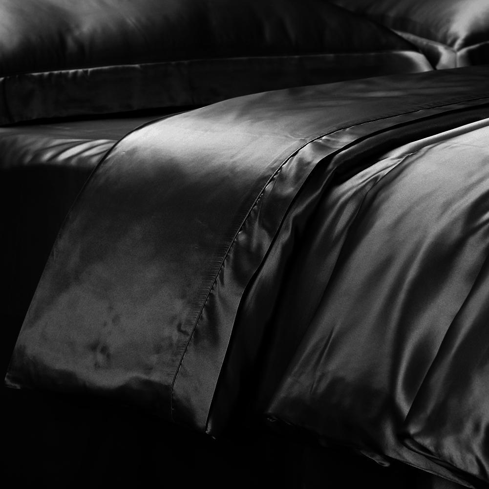 High end 19mm Mulberry Silk Duvet Cover | Black