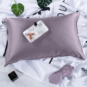 Luxury 22 Momme Pure Silk Pillowcase and Eye Mask Gift Set | King | 8 Colors