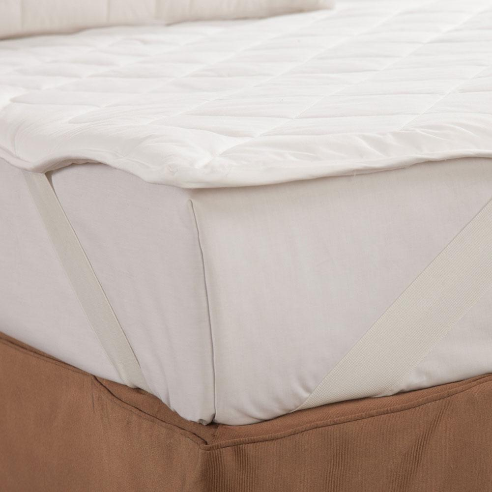 100% Natural Silk Filled Mattress Pad Mattress Topper with Cotton Cover | TAIHU SNOW