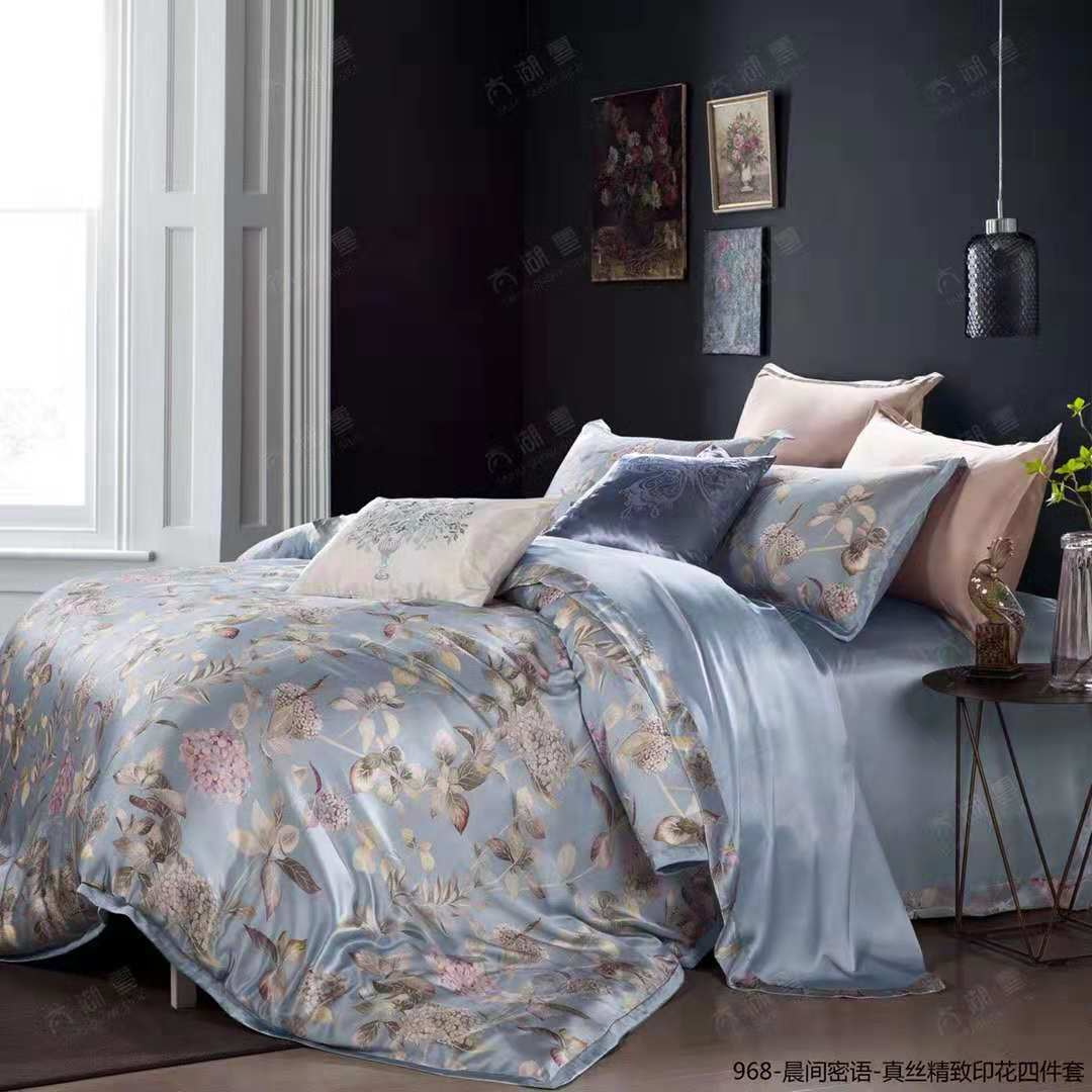 2019 New Arrival Exclusive Printed Mulberry Silk Bedding Sets Silk Duvet Cover Set | Colorful Time  |TAIHU SNOW