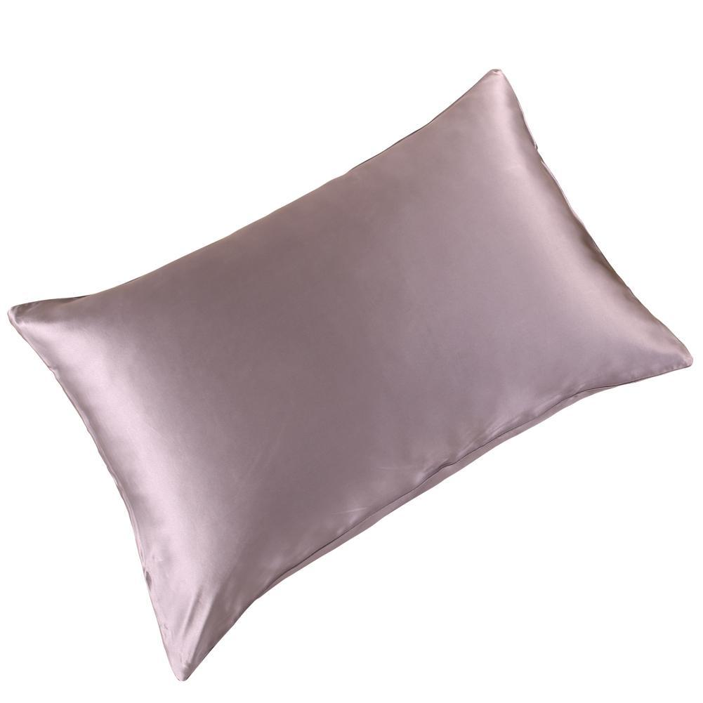 High end 19 Momme Mulberry Silk Pillowcase | Zipper Closure | 17 Colors| TAIHU SNOW