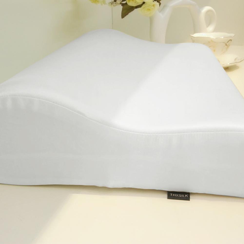High end 19 Momme Mulberry Silk  Pillowcase for Memory Foam Pillow | Queen | TAIHU SNOW