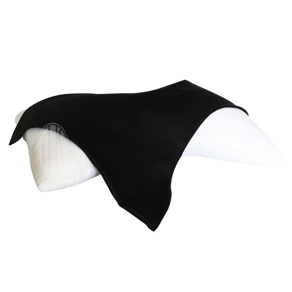 Silk Butterfly Pillow Rest Pillow  with Pure Silk Pillowcase | Black Color
