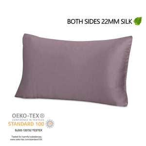 Luxury 22 Momme Mulberry Silk Pillowcase with Hidden Zipper | 7 Colors |TAIHU SNOW