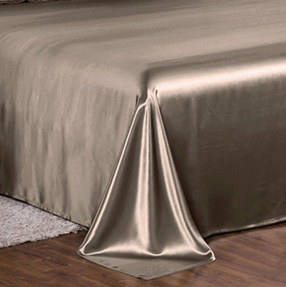 High end 19 Momme Mulberry Silk Flat Sheet | Spalding Gray