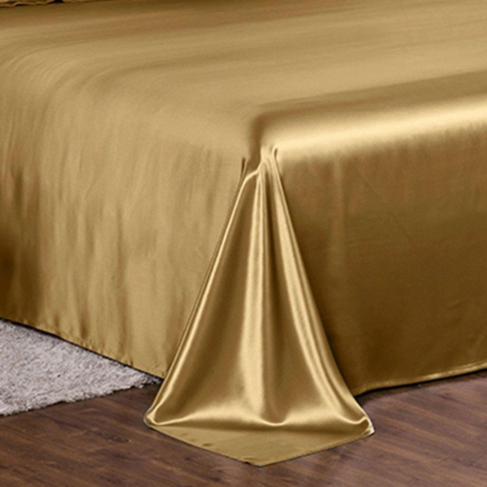 High end 19 Momme Silk Bedding Set Sheet Set (4 pcs) | Metallic Gold