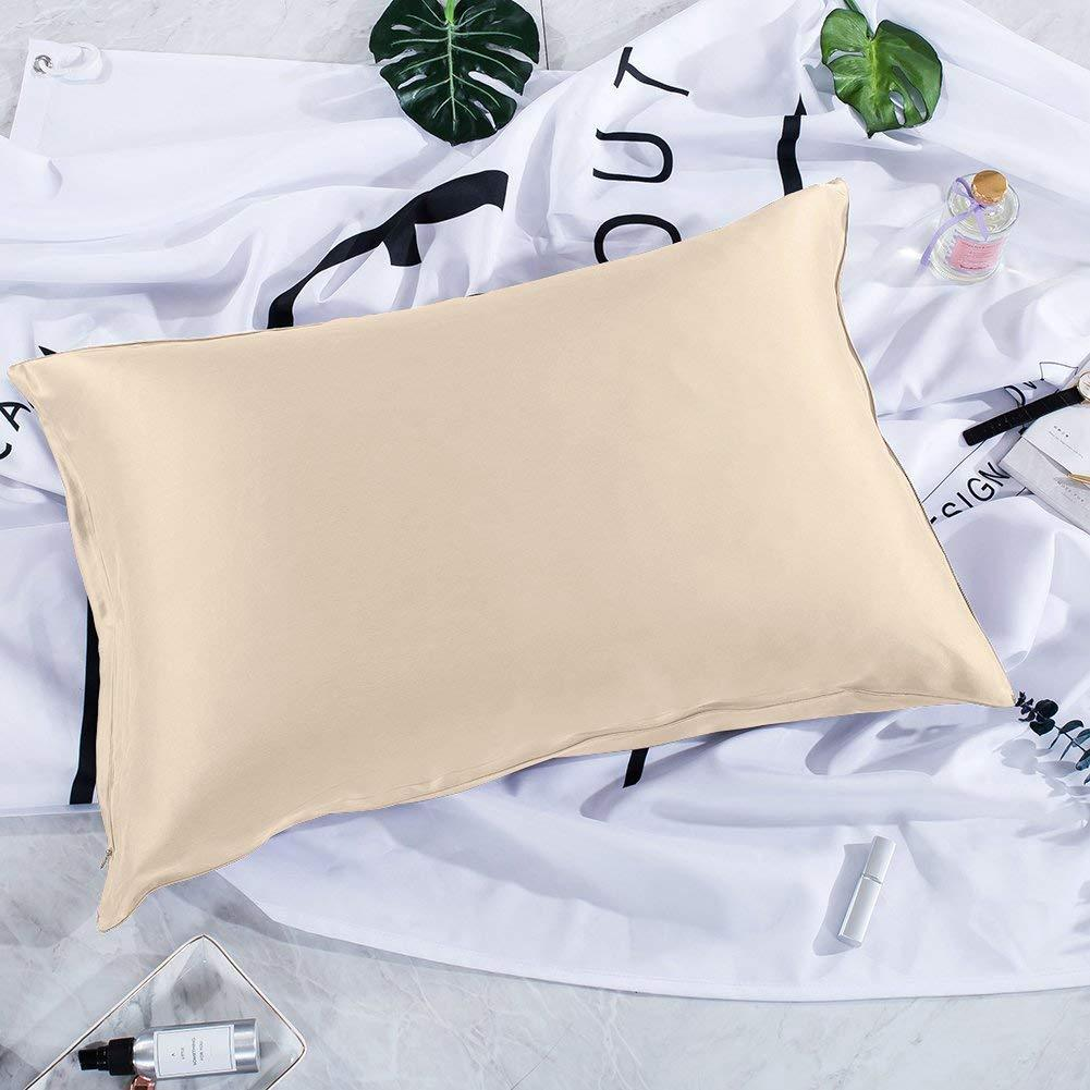 Luxury 22 Momme Special Sandwash Silk Pillowcase | Hidden Zipper Closure | 9 Colors | TAIHU SNOW