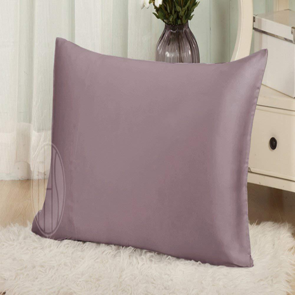 High end 19 Momme Silk Pillowcase Cushion Cover | Zipper Closure | 10 Colors | TAIHU SNOW