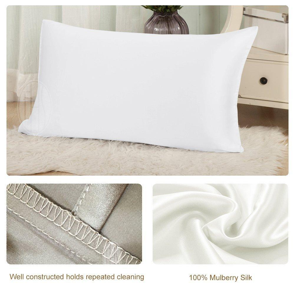 High end 19 Momme Mulberry Silk Pillowcase | Twin Size | Two-tone