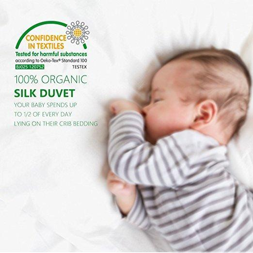 Luxury Ultra Soft | 100% Mulberry Silk Filled Silk Comforter for Baby | All Season | TAIHU SNOW