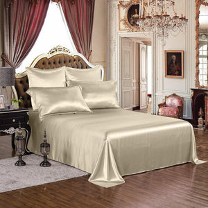 High end 19 Momme Silk Bedding Set Sheet Set (4 pcs) | Vanilla