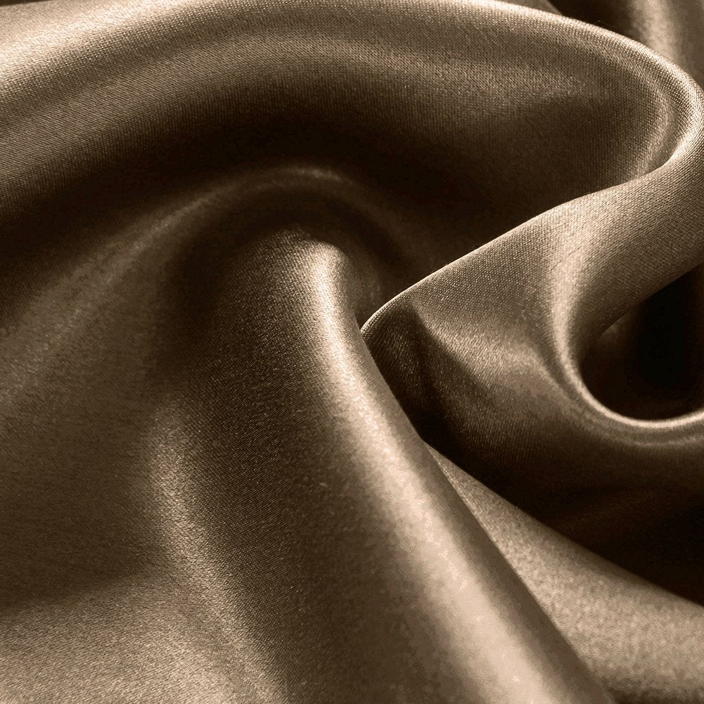 High end 19 Momme Mulberry Silk Flat Sheet | Metallic Rose Gold |TAIHU SNOW