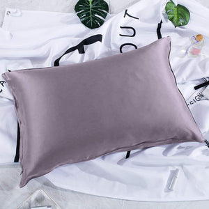 Luxury 22 Momme Special Sandwash Mulberry Silk Pillowcase | Hidden Zipper Closure | Standard