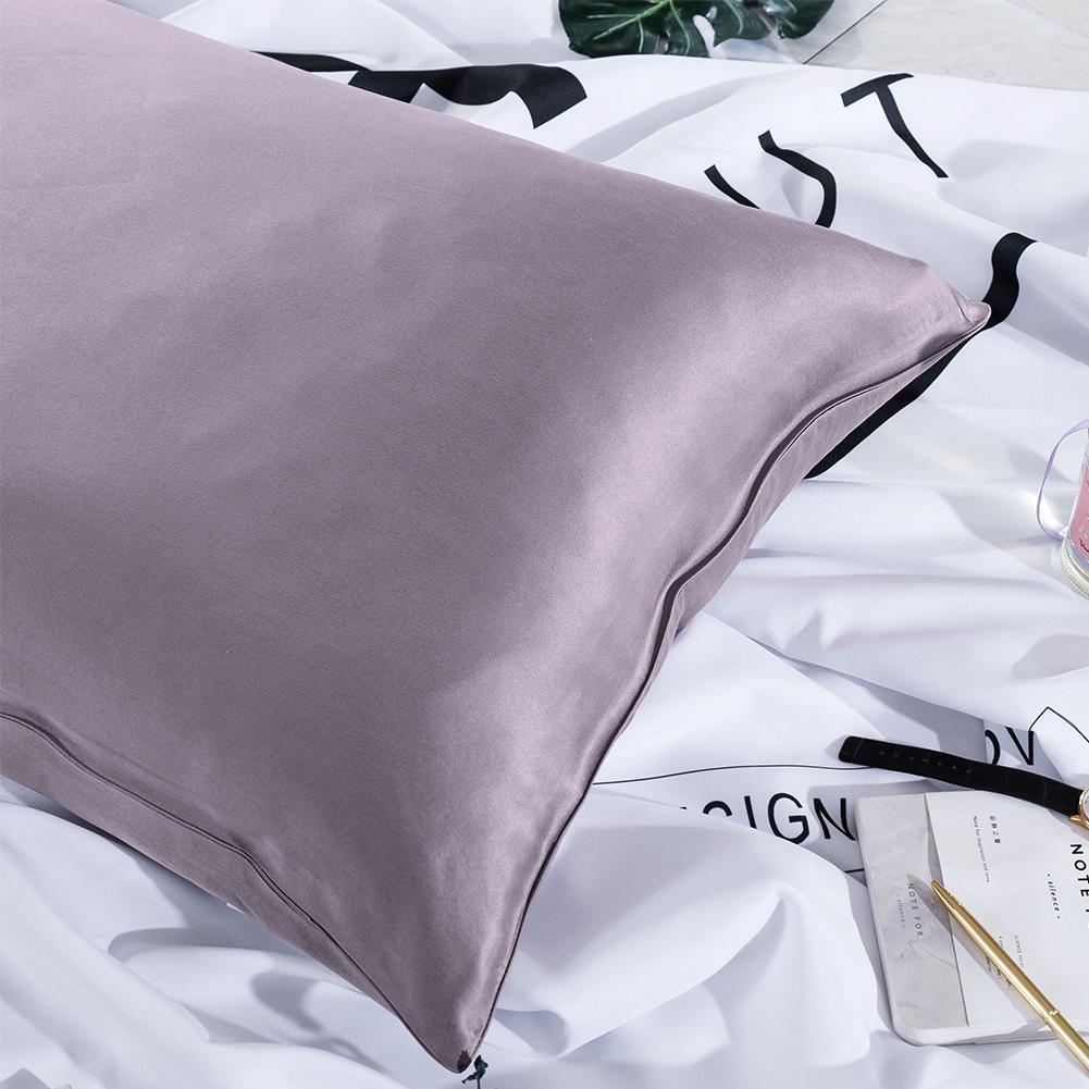 Luxury 22 Momme Pure Silk Pillowcase and Eye Mask Gift Set | Queen | 8 Colors| TAIHU SNOW