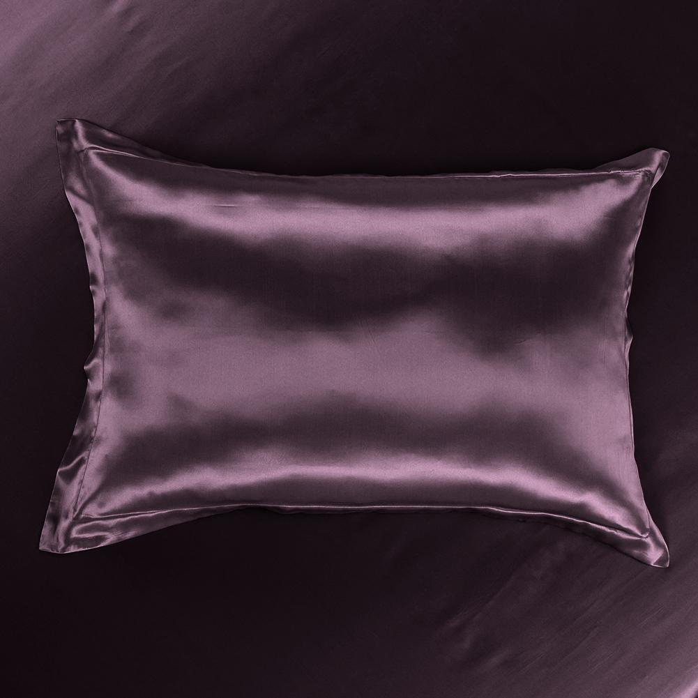Luxury 22 Momme Mulberry Silk Pillow Sham Silk Pillowcase with Envelope Closure | 5 Colors|TAIHU SNOW