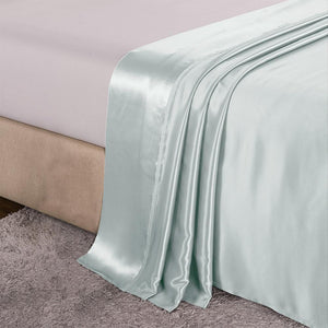 Luxury 22 Momme Mulberry Silk Flat Sheet Silk Top Sheet | King Size