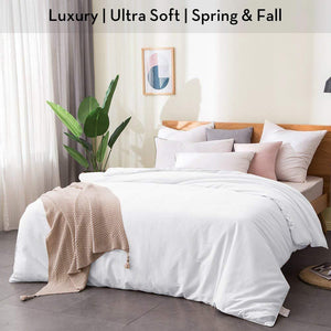 Luxury Ultra Soft | 100% Mulberry Silk Filled Silk Comforter | Spring & Fall