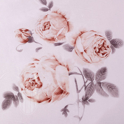 Exclusive Printed Mulberry Silk Bedding Sets Silk Duvet Cover Set |Floral Print  |TAIHU SNOW