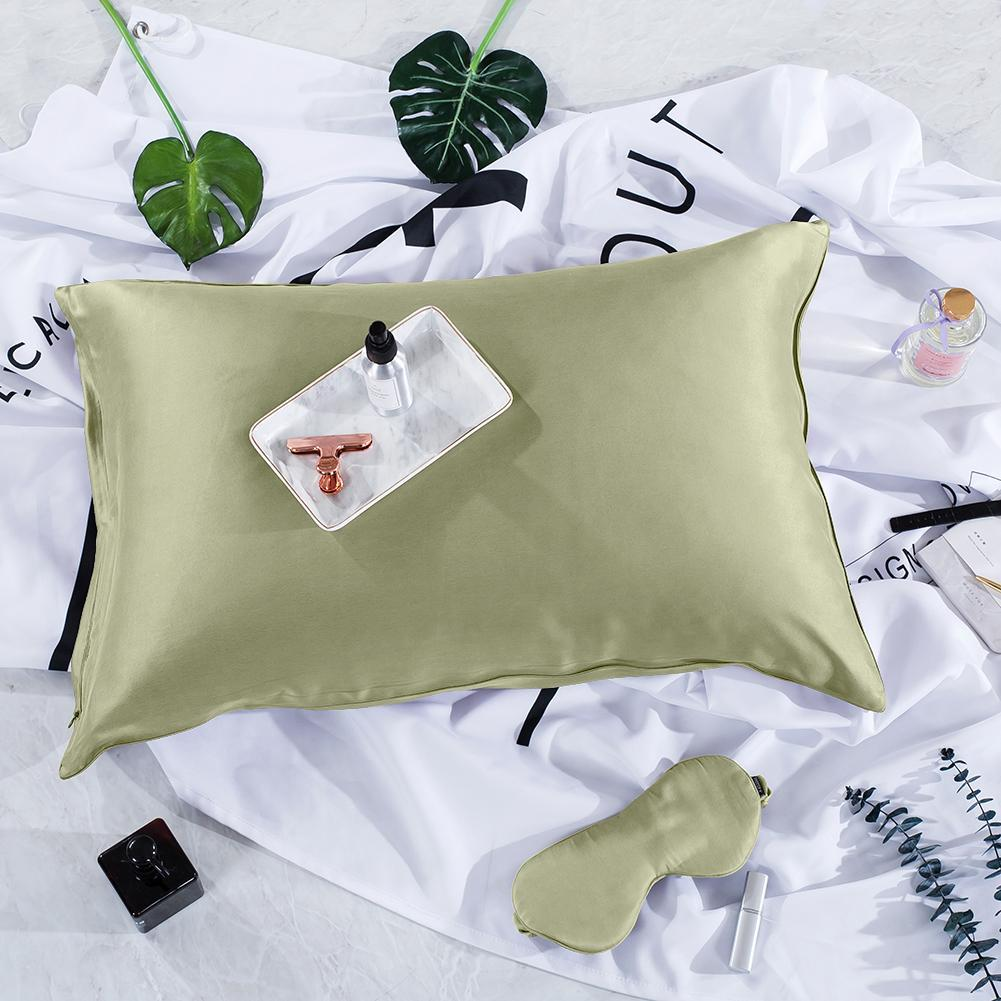 Luxury 22 Momme Pure Silk Pillowcase and Eye Mask Gift Set | Standard | 8 Colors