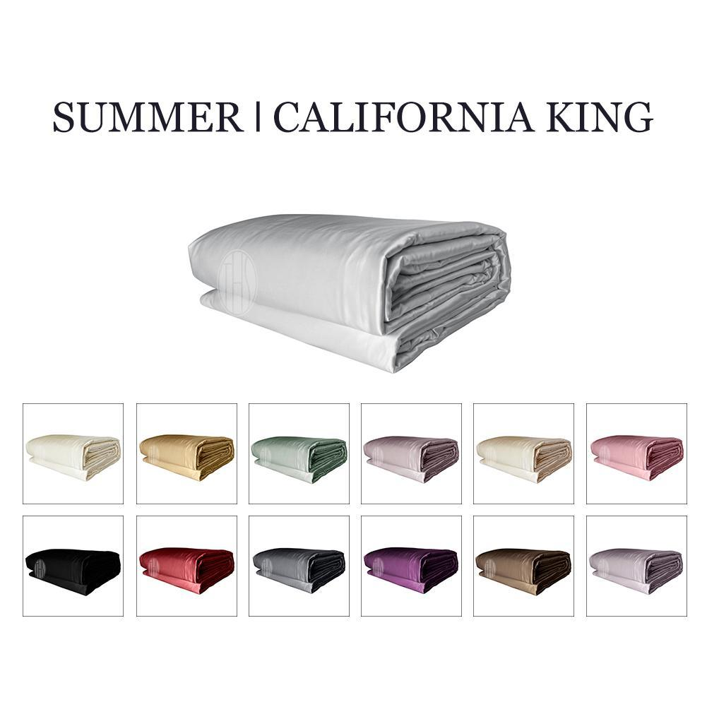 Luxury 2in1 Silk Cooling Comforter Set with Removable Silk Duvet Cover | Summer | California King