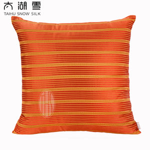 TAIHU SNOW Luxury Mulberry Silk Yarn-Dyed Decoration Cushion OEKO-TEX100/TAIHU SNOW