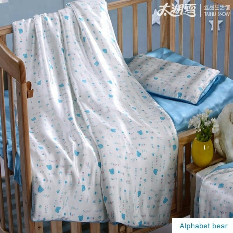 Kids' 100% Long Strand Mulberry Silk Filled Silk Blanket Covered with Printed Silk/TAIHU SNOW