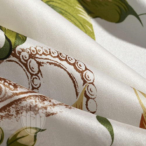 Exclusive Printed Mulberry Silk Bedding Sets Silk Duvet Cover Set  |TAIHU SNOW