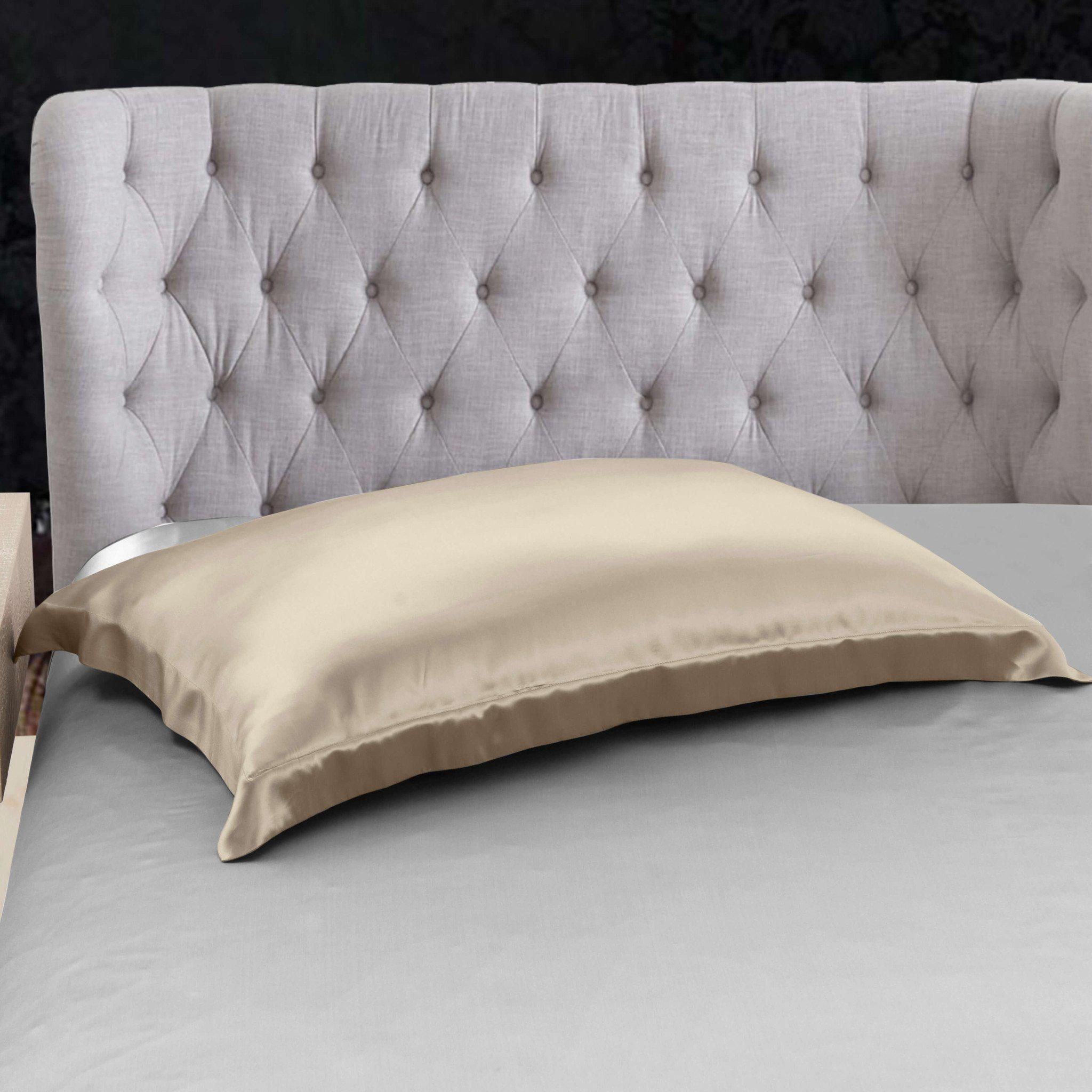 High end 19 Momme Mulberry Silk Pillow Sham Silk Pillowcase with Envelope Closure | 13 Colors | TAIHU SNOW