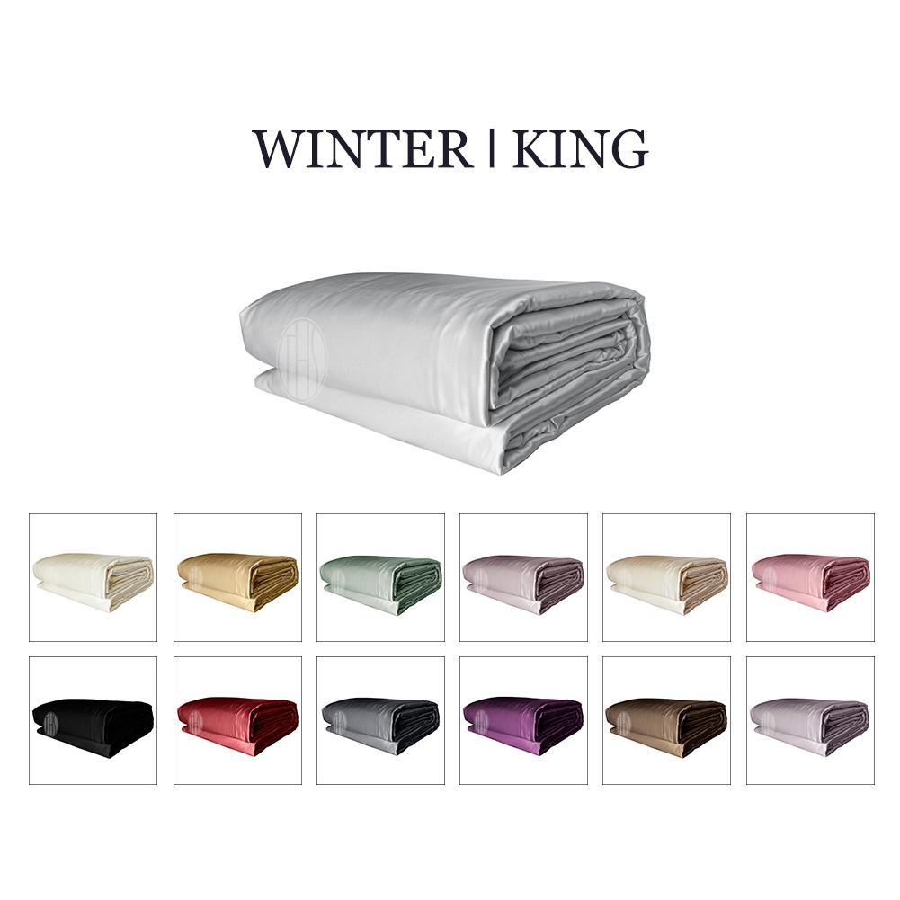 Luxury 2in1 Silk Comforter Set with Removable Silk Duvet Cover | Winter | King