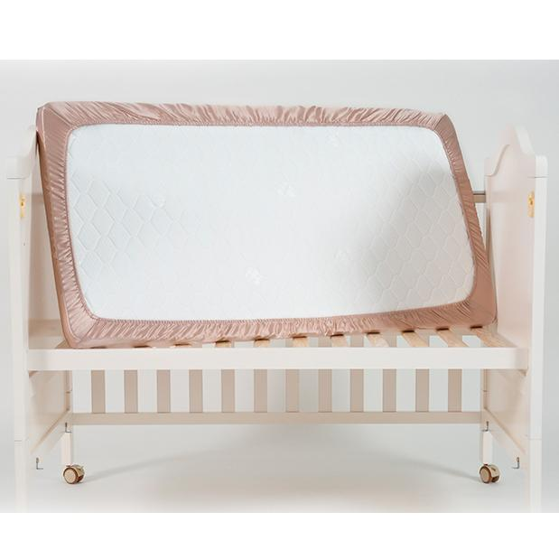 High end 19 Momme Mulberry Silk Baby Care Crib Silk Fitted Sheets | Kids | 7 Colors | TAIHU SNOW