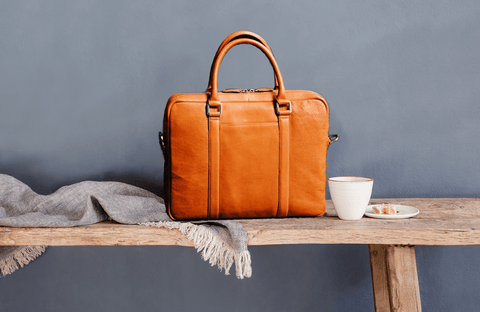 minimalist leather briefcase