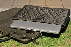 Soft Leather Briefcase - Midnight Green