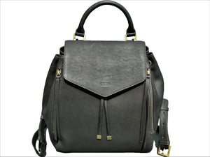 Soft Leather Backpack - Midnight Green