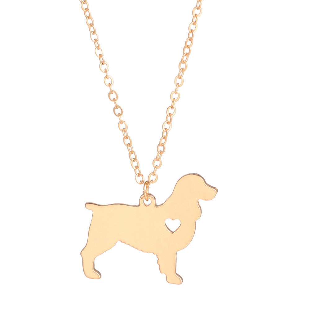 Springer Spaniel Pendant Necklace