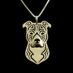 Pit Bull Carved Necklace