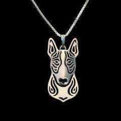 Bull Terrier Carved Necklace
