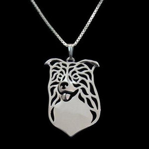 Border Collie Carved Necklace