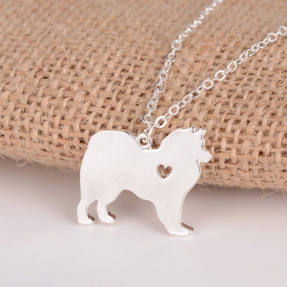 American Eskimo Pendant Necklace