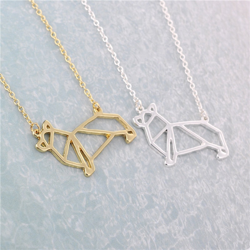 Origami Corgi Necklace