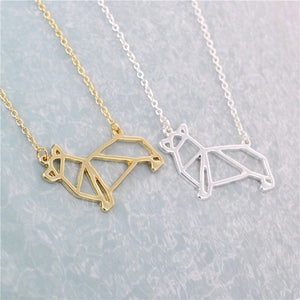 Corgi Origami Necklace