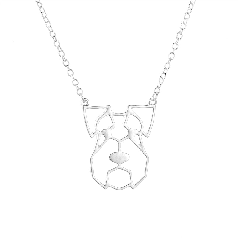 Schnauzer Origami Necklace