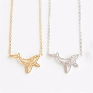 Whale Origami Necklace