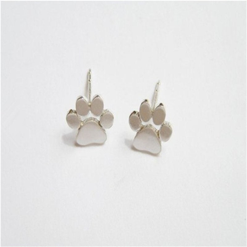 Paw Prints Earring Studs