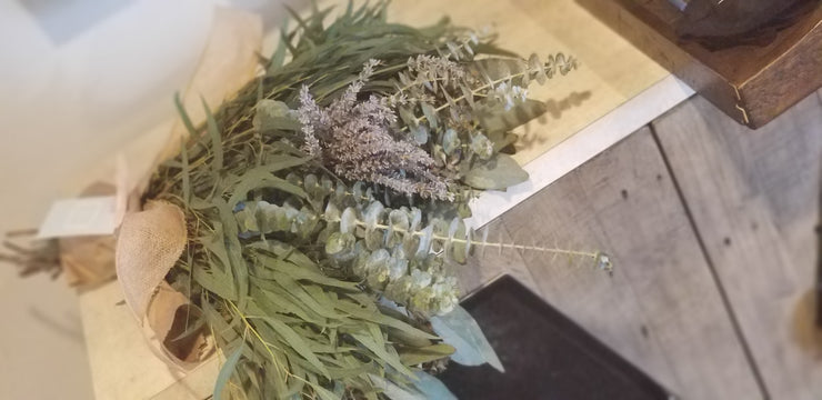 Medium Eucalyptus and Lavender Shower Bouquet